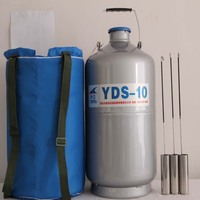 1PC YDS 10 High Quality Liquid Nitrogen Container Cryogenic Tank Dewar with Straps