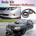 Bumper Lip Lábios Para Subaru Impreza WRX STi XV Defletor Frontal Saia Para TopGear Amigos Carro Tuning Spoiler/Body Kit/tira