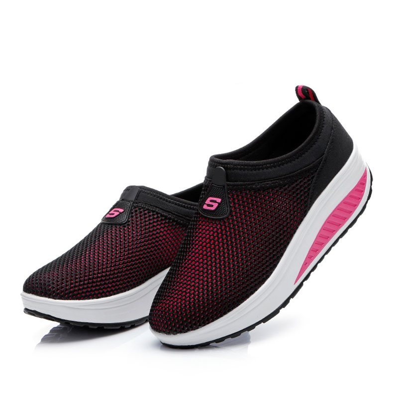 Mesh Swing Wedges Sneakers Female New Summer Outdoor Jogging Sports Shoes Women's Sneakers