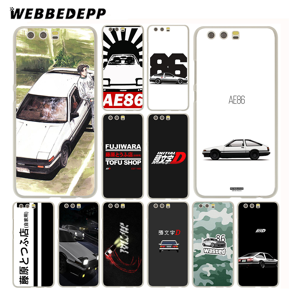 Webbedepp initial d 86 чехол для Huawei P20 P10 P9 P8 P7 P Smart Lite Mini Plus Pro & Nova 2 плюс 2 S 2i 2 Lite ...
