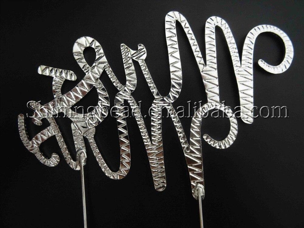 Mr & Mrs crystal rhinestone cake topper voor huwelijksverjaardag, - Feestversiering en feestartikelen - Foto 3
