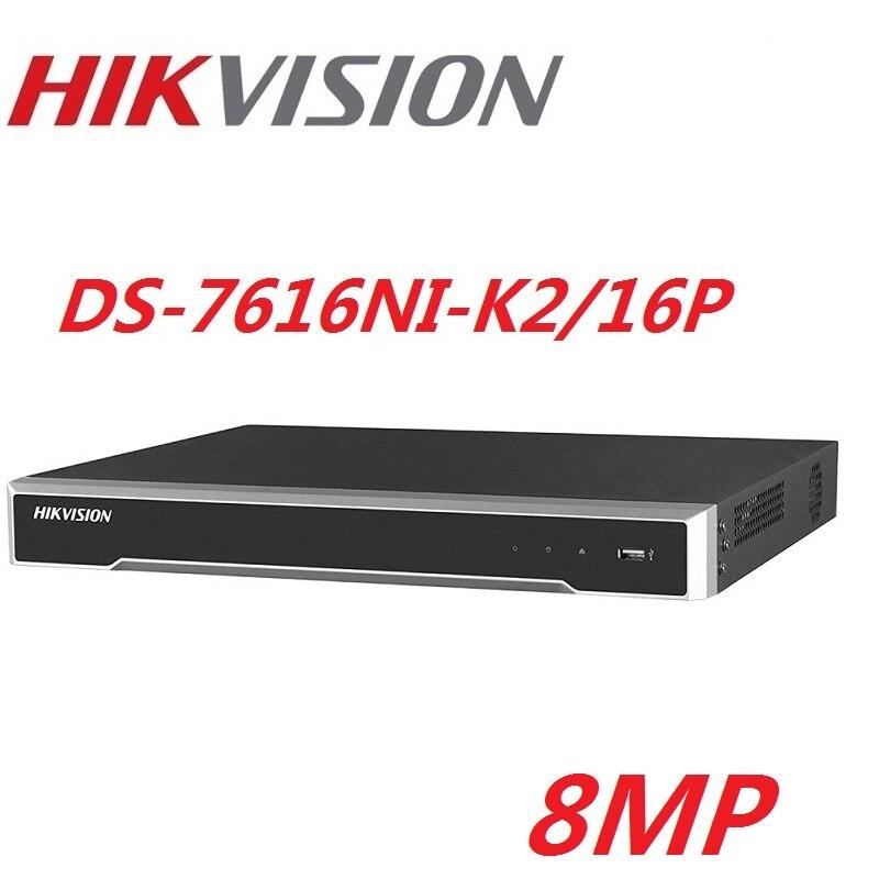Hikvision DS-7616NI-K2/16 P version anglaise 16POE ports 16CH NVR avec 2 ports SATA plug & play NVR H.265