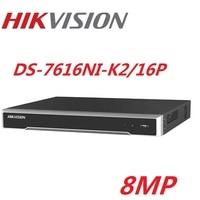 Hikvision DS 7616NI K2/16P English version 16POE ports 16CH NVR with 2SATA ports plug & play NVR H.265