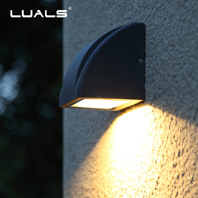 Modern Simple Wall Lamp Outdoor Waterproof Wall Lamps Garden Wall Light Luxury Home LED Lighting Creativity Art Porch Lights modern simple creativeoutdoor led wall lamp waterproof aluminum porch lights for garden corridor decorative wall lights