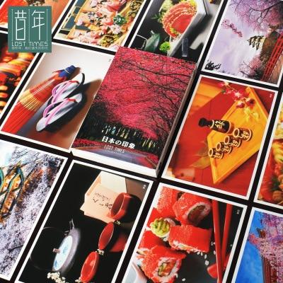 30sheets/LOT Impression Of Japan Tujiyama And Sakura Postcards  /Greeting Card/wish Card/Fashion Gift