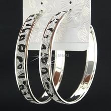 Очаровательные, модные,, модные, новые, матовые, серебряные, с большим леапердом, с узором, серьги-кольца для женщин, мужские, вечерние, ювелирные изделия, подарок B106