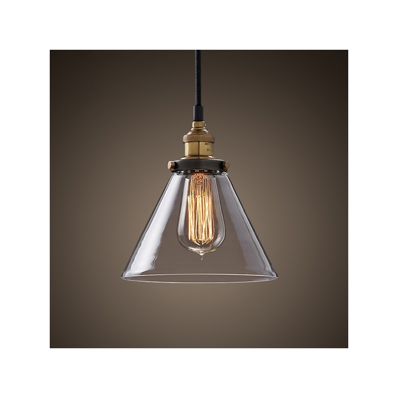 American Country Retro Glass Shade Pendant Lights Passage