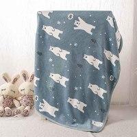 Blauer Bär Pet Katzen Rest Flanelldecke Hunde Kissen Warme Schlaf mittagsschlaf Bett Abdeckung Matte Quilt Plüsch Teppich Korallen Fleece Hund Zubehör