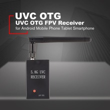 UVC OTG 5.8G 150CH Full Channel FPV Receiver for Android Mobile Phone Tablet Smartphone Spare Parts Accessories eachine r051 150ch 5 8g av recevier build in bat for iphone android ios smart mobile phone tablet vs rotg01 uvc otg for rc toys