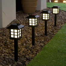 4pcs Palace Lantern Solar Powered Garden Landscape Light for Gardening Pathway Decoration Light Sensor Lamps White Multicolor