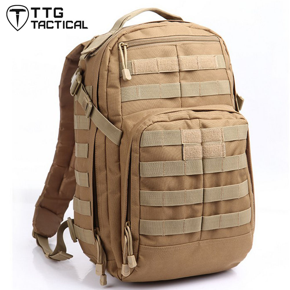 TTGTACTICAL 40L MOLLE Military Backpack 24 Hour Rush Army Tactics Combat Backpack Waterproof Nylon 3P Assault Travel Rucksack