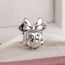 Spring 2015 new minnie charms authentic 925 sterling silver jewelry for women famous brand diy bracelets SH0648