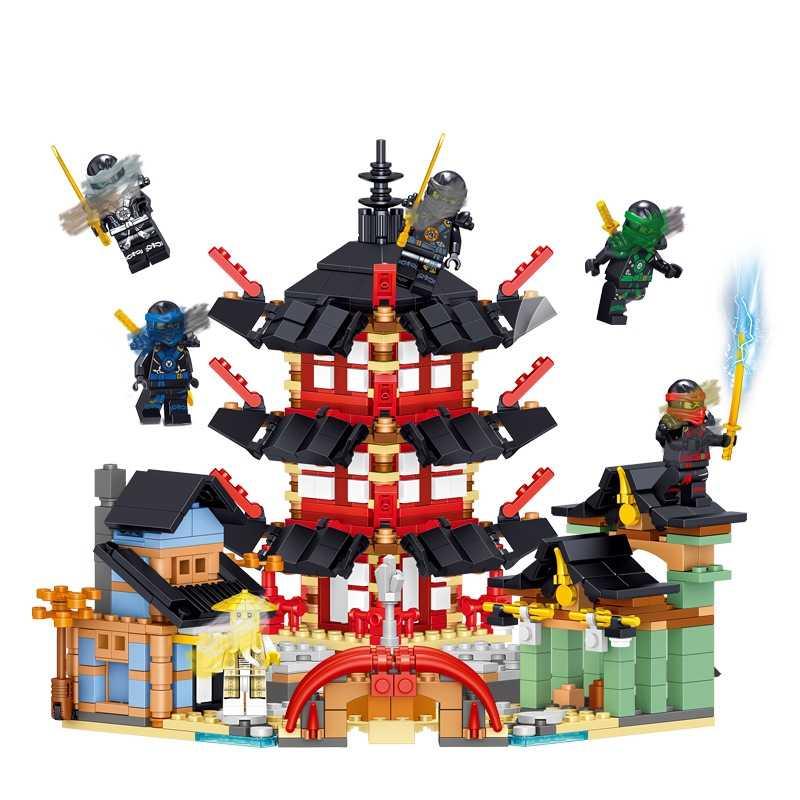 2019 ниндзя 770 шт. кирпичи фигурки Kai, jay, Cole Zane Ллойд 6 фигурок храмовые Строительные блоки совместимы с lego игрушки Ниндзяго подарок