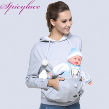 Drop shipping Women Cuddle Pouch Hoodies Mewgaroo Kangaroo Cat Pet Casual Blouse Pullovers Ears Sweatshirt Front Pocket Hoodie