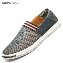 Summer mens casual shoes platform loafers for men 2018 new fashion wild jogging youth work light flat Breathable mesh shoe man