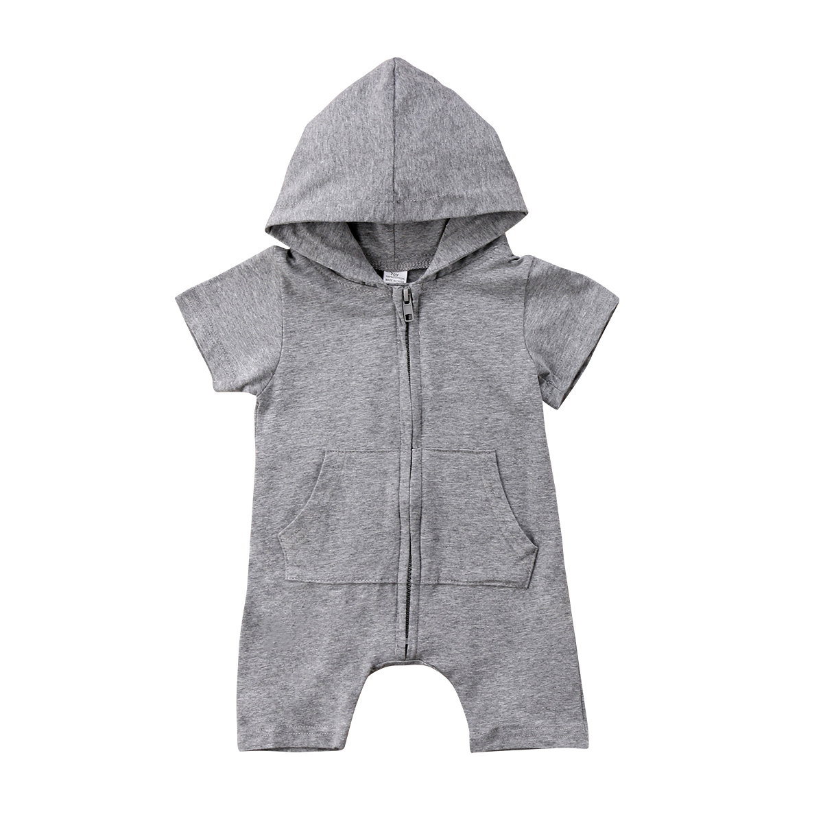 Toddler Infant Kids Baby Rompers Boy Girl Zipper Romper Jumpsuit Short Sleeve Hooded Baby Clothes Summer Outfit baby girl 1st birthday outfits short sleeve infant clothing sets lace romper dress headband shoe toddler tutu set baby s clothes