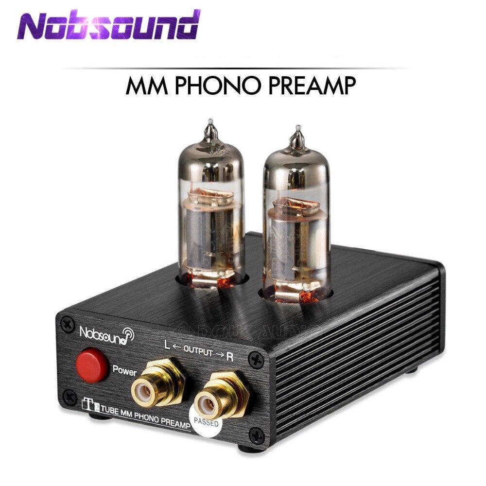 Nobsound HiFi aspirateur 6J5 Tube MM préampli Phono stéréo Mini platine vinyle préamplificateur pour disque vinyle