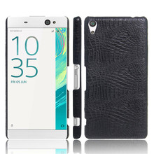 For Sony Xperia XA Ultra F3211 F3216 Case Crocodile Pattern Hard PC with PU Leather Back Cover Case for Sony Xperia XA Ultra чехол для сотового телефона muvit mfx folio case для sony xperia xa ultra seeaf0046 черный