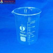 Yüksek kaliteli laboratuvar cam beher 2000 ml
