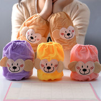 Kawaii monkey flannelette Winter coats Dustproof Sleeve Cuff Oversleeves Home Cleaning Accessories Free Shipping