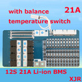12 S lipo de Polímero de litio 21A BMS/PCM/PCB junta de protección de la batería para 12 Paquetes de 18650 Li-ion e bicicleta eléctrica de la Batería Celular w/Balance