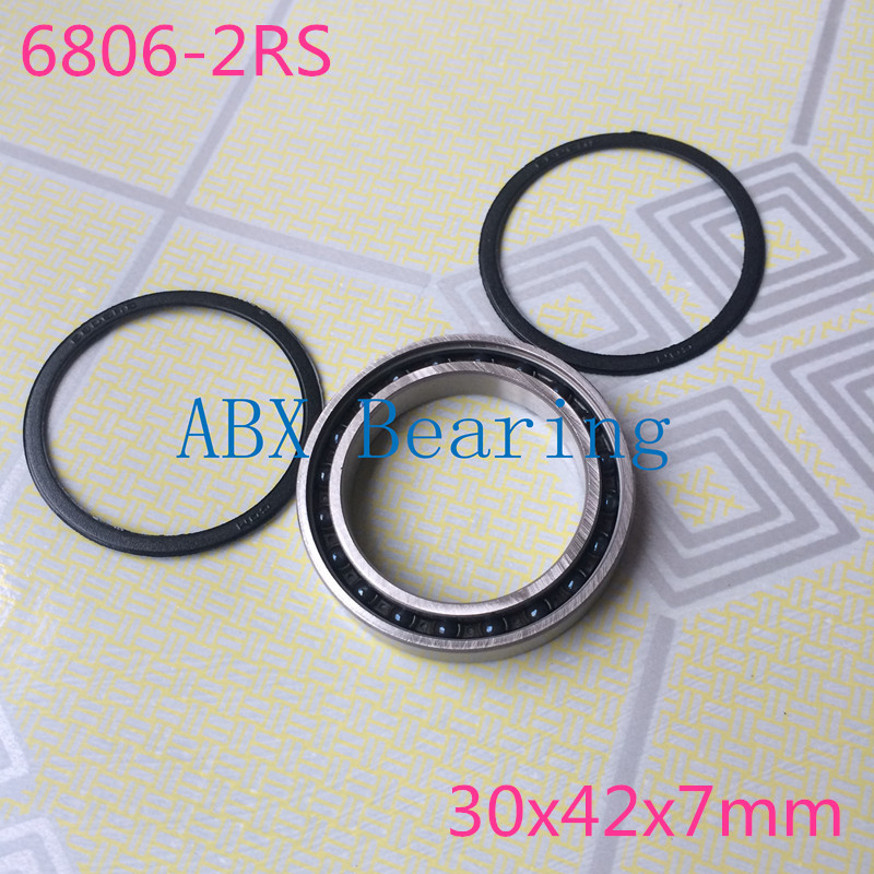 6806-2RS 6806 61806 2RS 6806RS 61806RS SI3N4 hybrid ceramic ball bearing 30x42x7mm for BB30 free shipping 6806 2rs cb 61806 full si3n4 ceramic deep groove ball bearing 30x42x7mm bb30 bike repaire bearing
