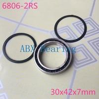 Free Shipping 6806 2RS 6806 61806 2RS Hybrid Ceramic Deep Groove Ball Bearing 30x42x7mm