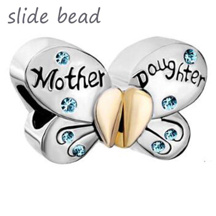 Fit Pandora Charm Bracelets Slide Beads