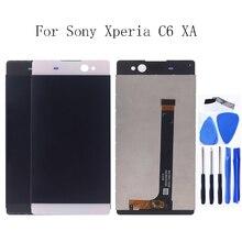 Per Sony Xperia C6 Xa Ultra Display Lcd di Tocco Digitale Dello Schermo F3211 F3212 F3215 F3216 F3213 Telefono Pannello di Vetro di Riparazione kit di Strumenti di