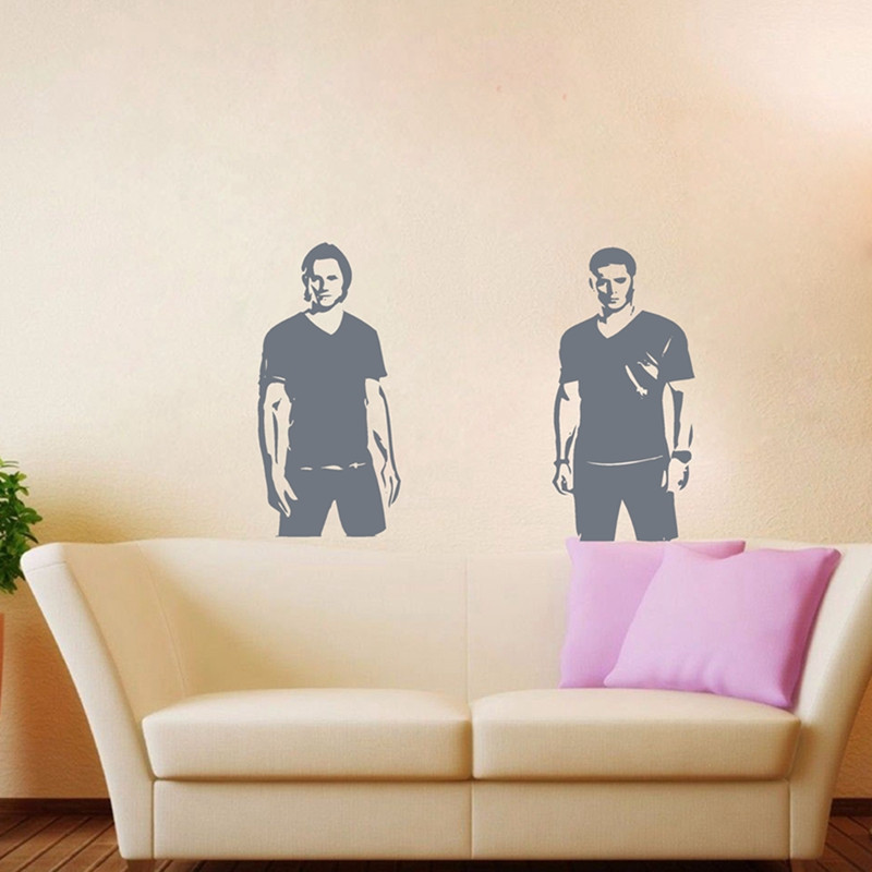 Free Shipping Supernatural Wall Art Decor , Supernatural Sam And Dean  Winchester Vinyl Decal Stickers In Wall Stickers From Home U0026 Garden On  Aliexpress.com ...