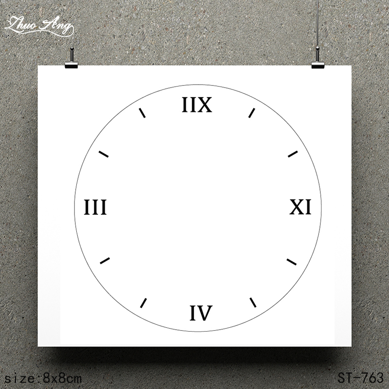 ZhuoAng White Clock Design Clear Stamp Scrapbook Rubber Stamp Craft Clear Stamp Card Seamless Stamp in Stamps from Home Garden