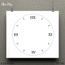 ZhuoAng White Clock / Design Clear Stamp Scrapbook Rubber Craft Card Seamless