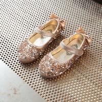 New Spring Oro Strass Principessa Sandali delle Ragazze Bambini Fiori Bambini Abito Da Sposa Partito Scarpe Da Ballo Per Ragazze Baby Shoes
