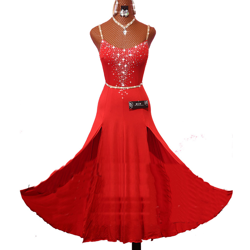 New Latin Dance Dress For Women Red Lace Stage Perform Cha Cha Rumba Samba Practice Exercise Fitness Clothes Free Ship DW1118