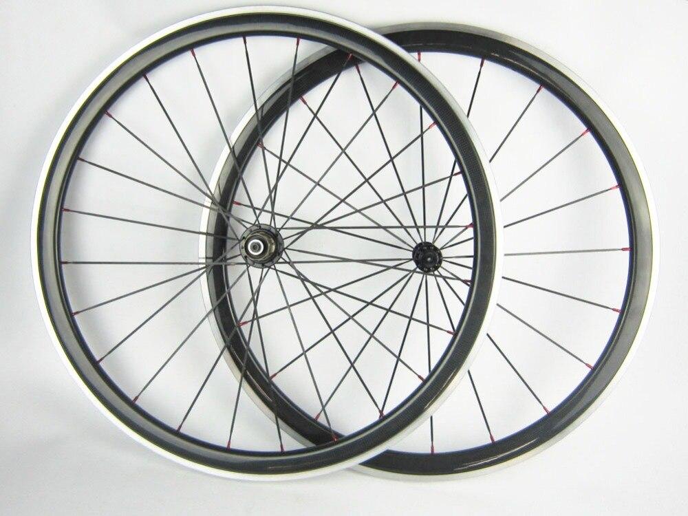 Углеродное волокно велосипед 38 мм довод с сплава тормозной поверхности велосипедов Топ Race алюминиевый торможения 700c с картиной