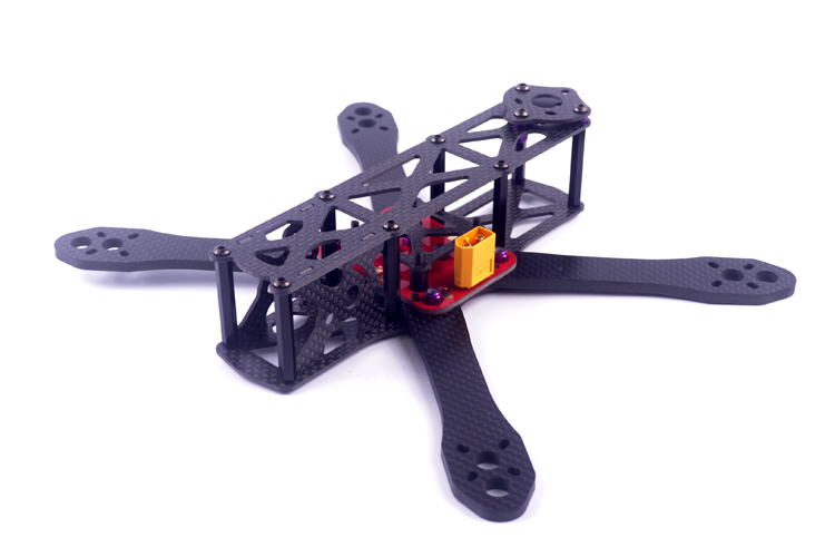 DIY mini drone Alien FPV cross racing quadcopter pure carbon fiber frame 225 4mm * 2mm * 2mm unassembled diy fpv mini drone qav210 quadcopter frame kit pure carbon frame cobra 2204 2300kv motor cobra 12a esc cc3d naze32 10dof