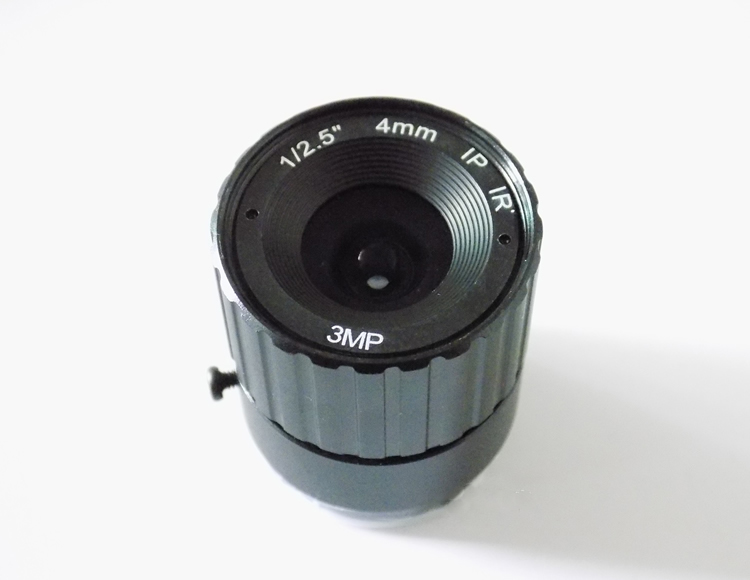 3 Megapixel HD lens Fixed Iris IR Infrared 4mm CS Mount Lens For Security CCTV Camera