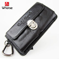 Brand Logo ! High Quality Men Small Genuine Leather Waist Bags Design Zipper Men Waist Packs Belt Bag Cellphone Mobile Case