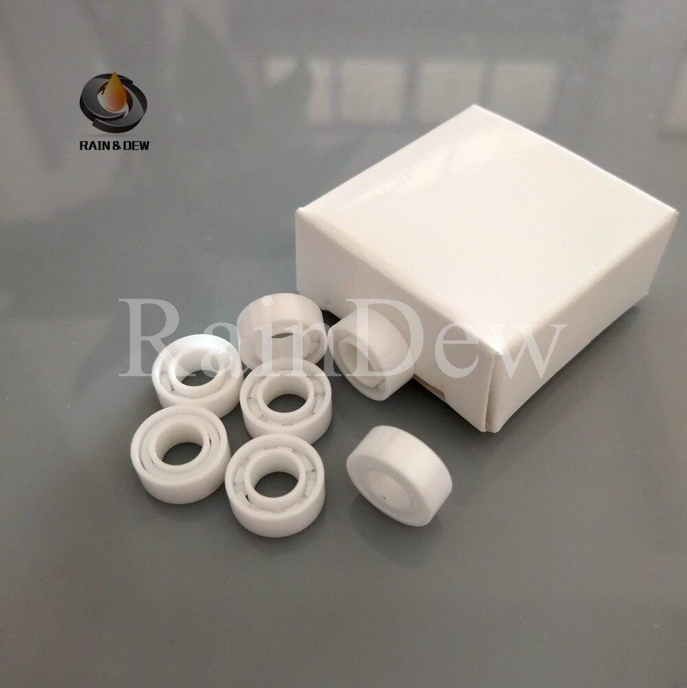 New 2pcs MR104 4x10x4mm Full Ceramic Bearing ZrO2 Ball Bearing Zirconia Oxide