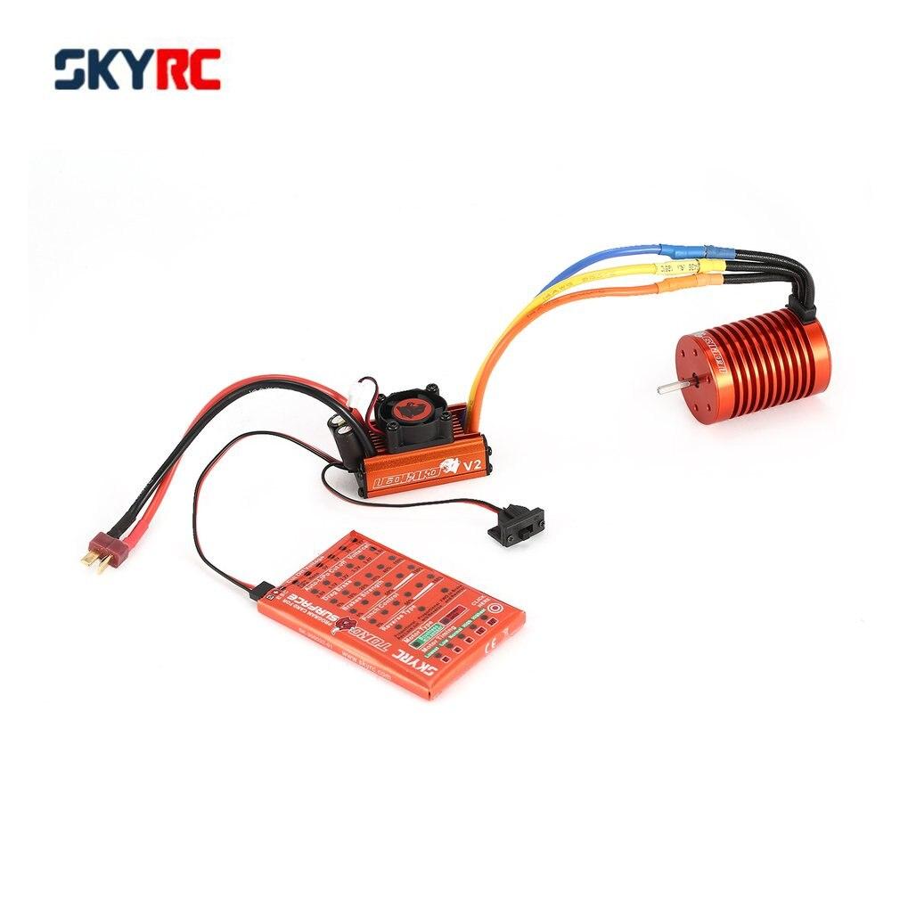 SKYRC SK-300042-02 9 T 4370KV moteur Brushless 60A sans balais ESC carte de programmation Combo ensemble pour 1/10 RC voiture camion nouveau