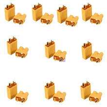 10pairs XT30 2mm Golden Connector Plug Set for RC Lipo Battery Quadcopter Multicopter Airplane