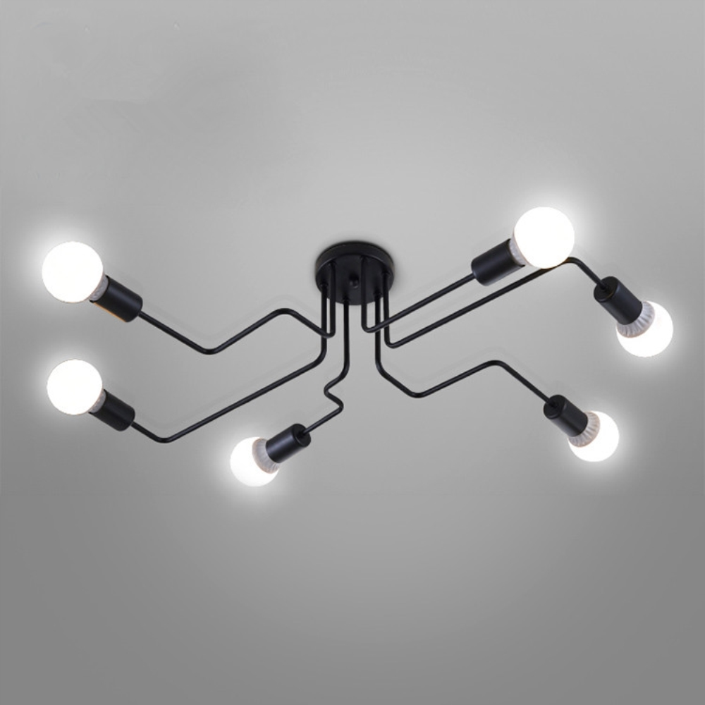 Chandeliers Led lights For Home Lustre Lighting Luminaira Multiple Rod Wrought Iron Lamp Living Room Lamparas De Techo Fixtures 120cm 100cm modern ceiling lights led lights for home lighting lustre lamparas de techo plafon lamp ac85 260v lampadari luz