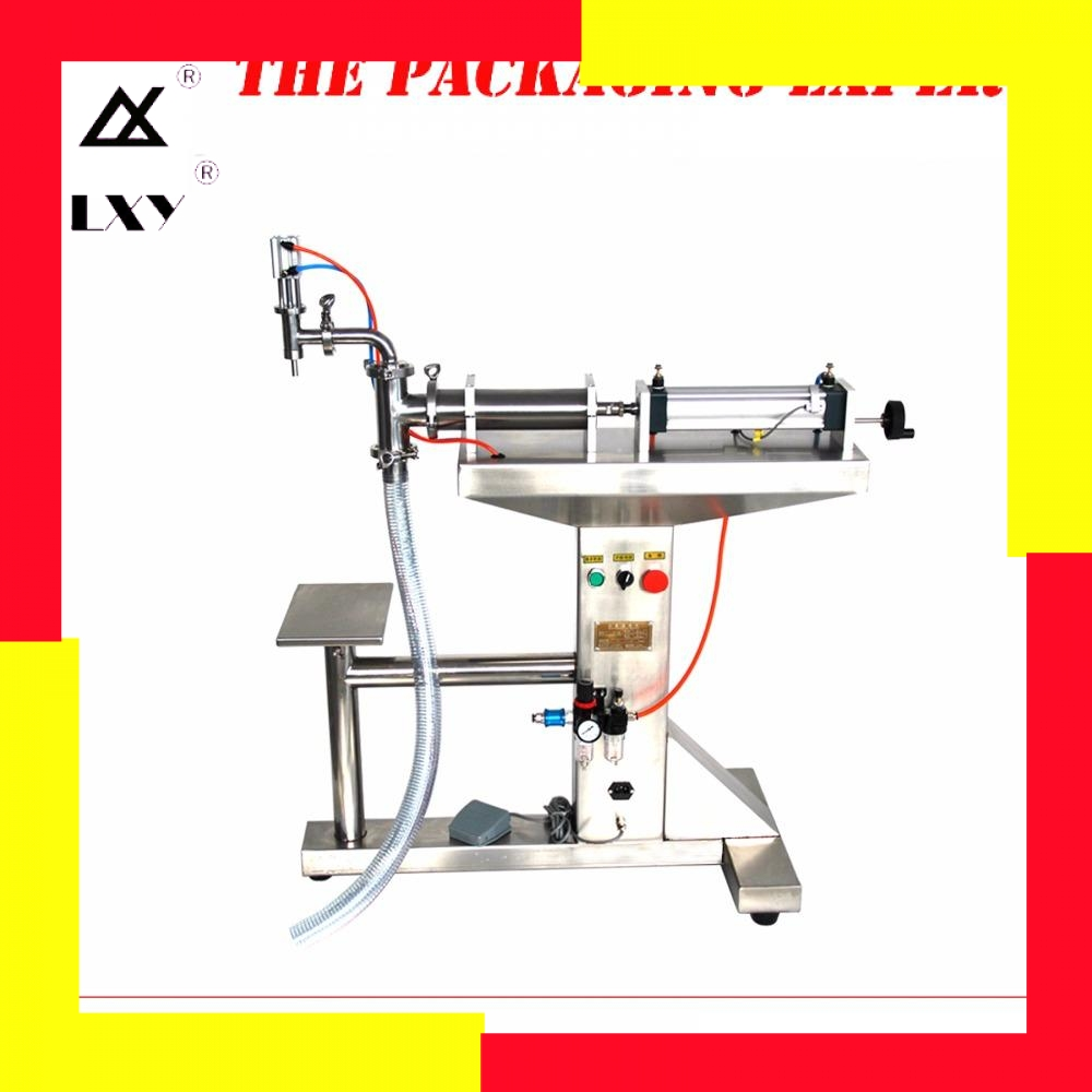 Standing Water Milk Detergent Chemical Shampoo Juice Oil Eliquid Filling Machine Semi Automatic Pneumatic Piston Filler
