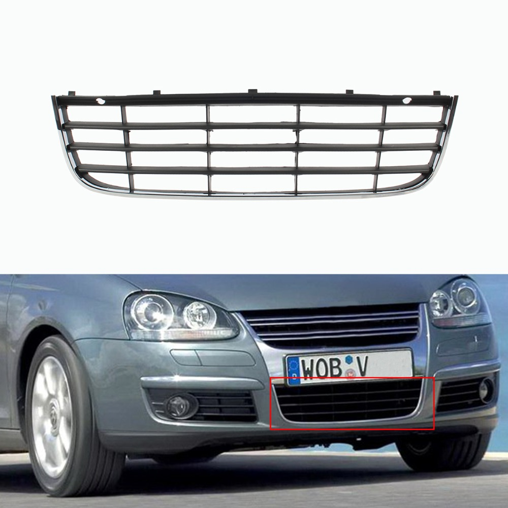 NEW VW JETTA 2005-2010 FRONT BUMPER CENTER GRILL CHROME