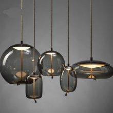 Скандинавский современный исследование BROKIS узел подвесной светильник прикроватный Том Диксон Luminaria деко стекло люстра, подвесной светильник Lamparass