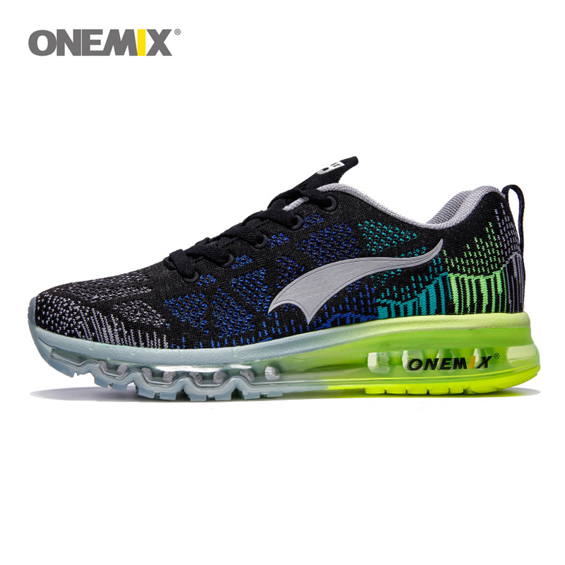 Onemix sport running shoes music rhythm men's breathable mesh outdoor athletic light male shoes size EU 39-46 sneakers
