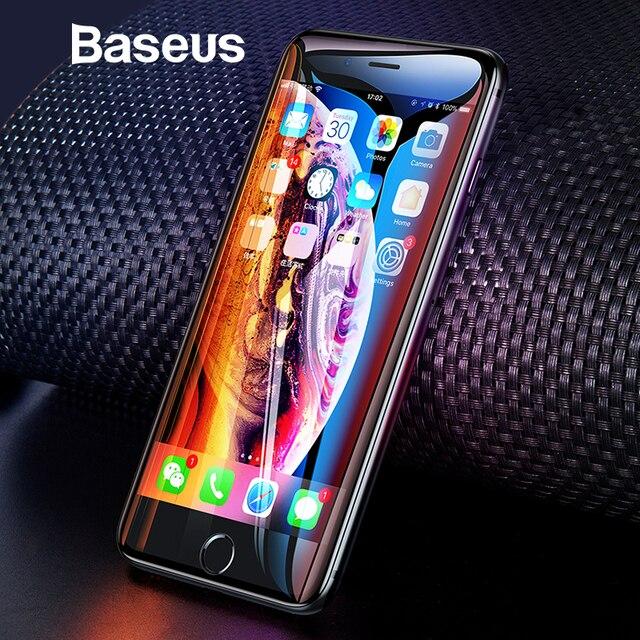 Baseus универсальное Защитное стекло для iPhone 7 8 6 6s защита для экрана 3D полное покрытие закаленное стекло для iPhone 6 7 8 Plus