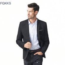 Лидер продаж Новое поступление модные Блейзер Для мужчин s повседневная куртка одноцветное Цвет хлопок Для мужчин Блейзер Для мужчин Классические Для мужчин S Пиджаки Пальто для будущих мам