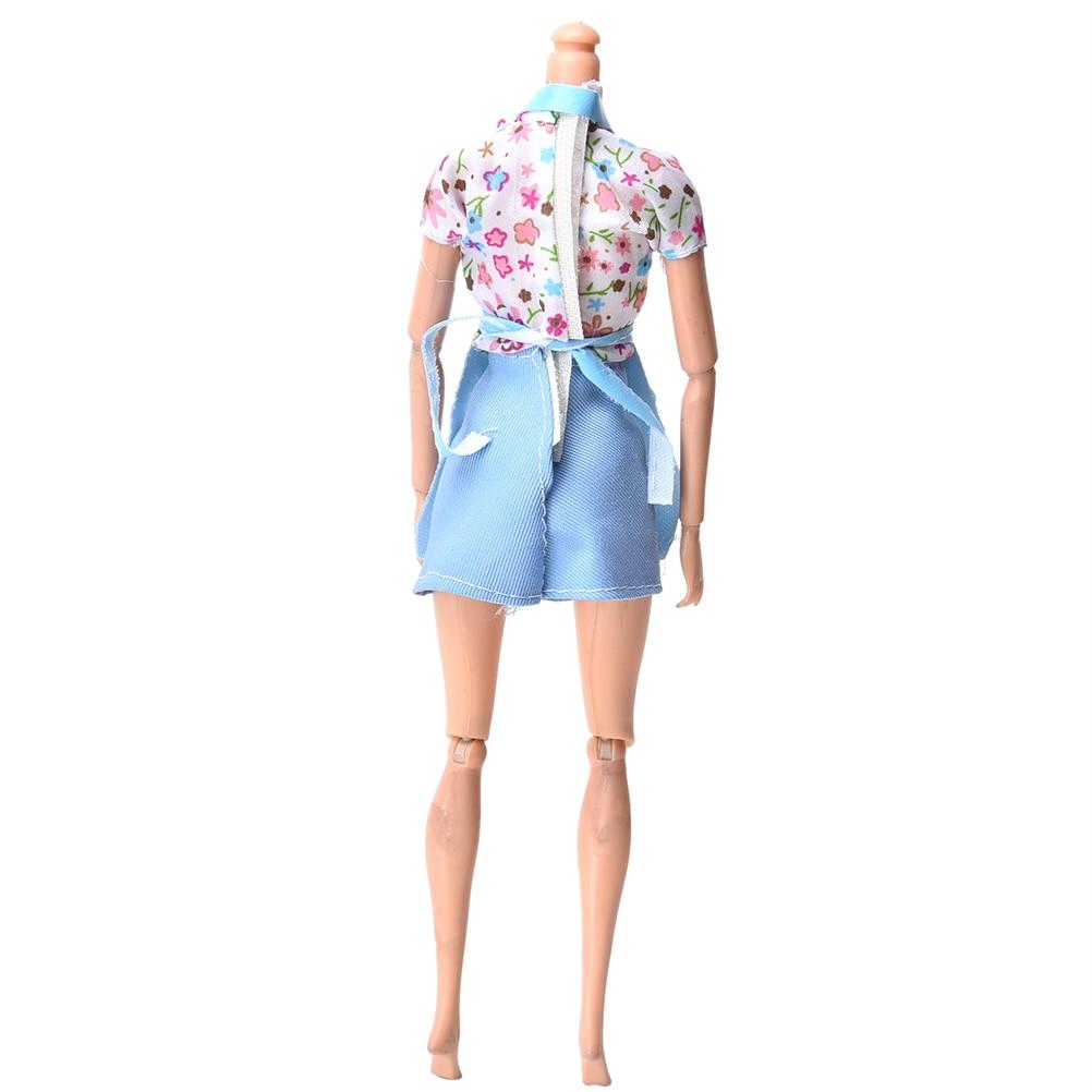 3 шт./компл. розовый синий милый ребенок одежда для Барби Куклы с фартуком Кухня костюм Аксессуары для кукол оптовая продажа
