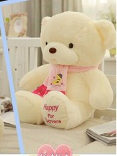 cute teddy bear toy pink scraf bear toy lovely pink bear toy gift doll about 45cm